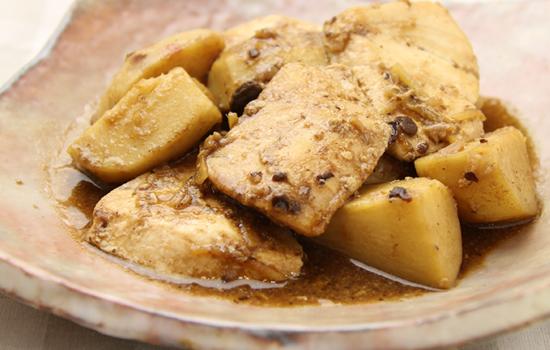 カジキと里芋のトウチ煮