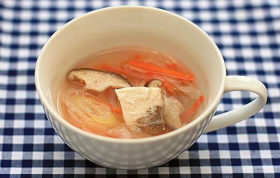 メカジキの中華蒸しスープ