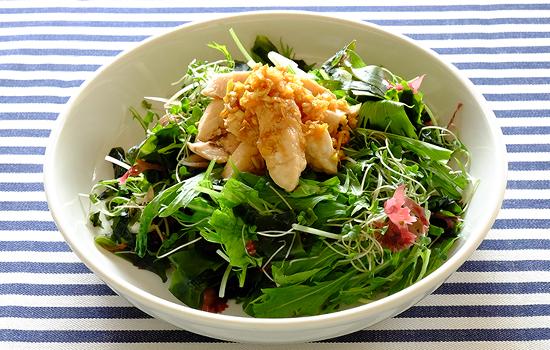 めかじきと海藻のサラダ